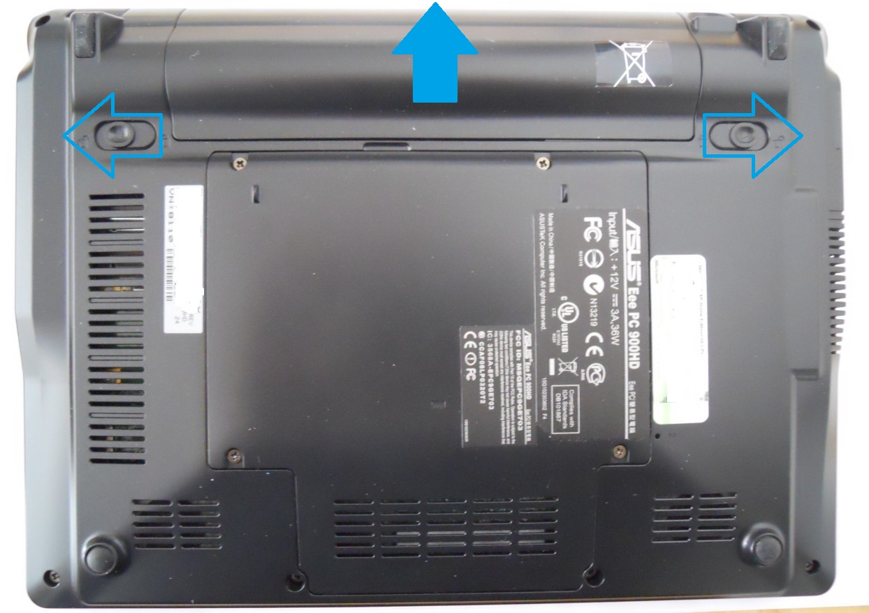 Asus Eee PC 900HD bottom cover