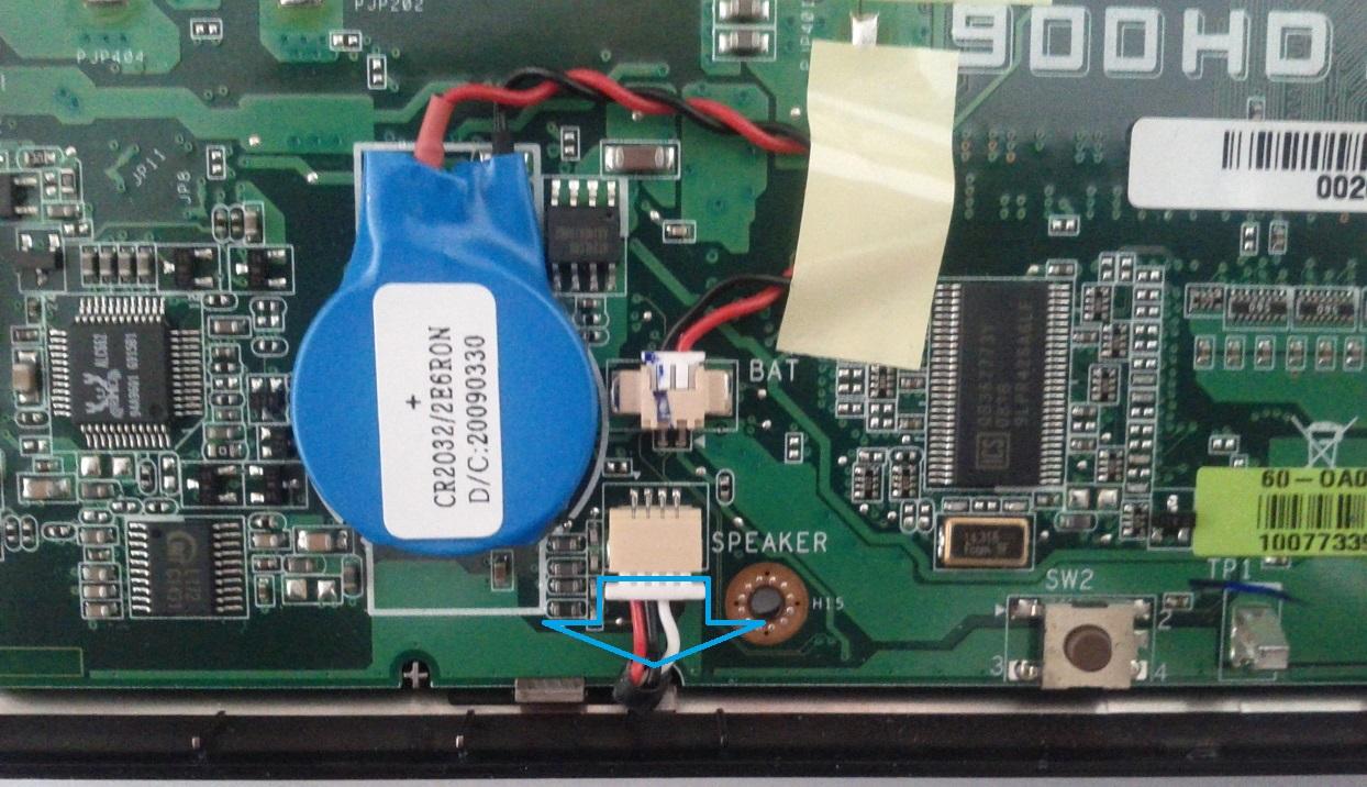 Asus Eee PC 900HD speakers connector