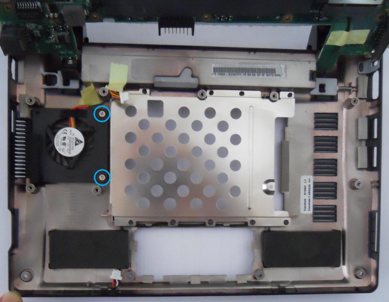 Asus Eee PC 900HD fan