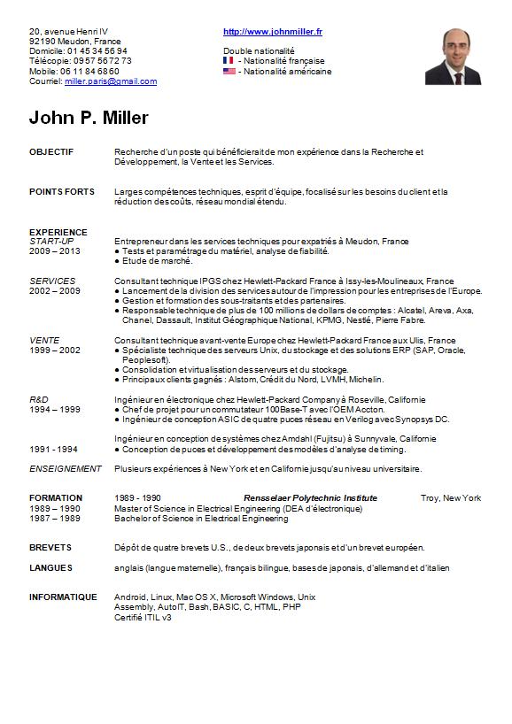 curriculum vitae  cv  de john miller